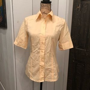 Butter yellow button up blouse